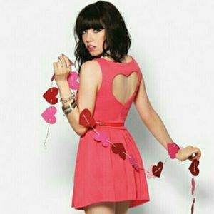 Candie's Heart Cut Out Dress